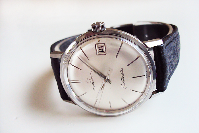 Eterna Matic Centenaire dauphine hands date | Vintage watches for sale